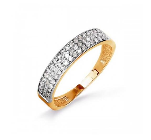 Ювелирный салон Топаз Золотое кольцо с бриллиантами Т141015993 - фото 1
