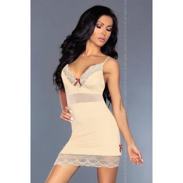 Интим-магазин Livia Corsetti Роскошная кремовая сорочка Lourdes L/XL арт. 90244L/XL - фото 1