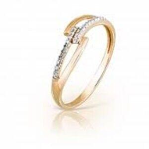 Ювелирный салон Jeweller Karat Кольцо золотое с бриллиантами арт. 1214407 - фото 1