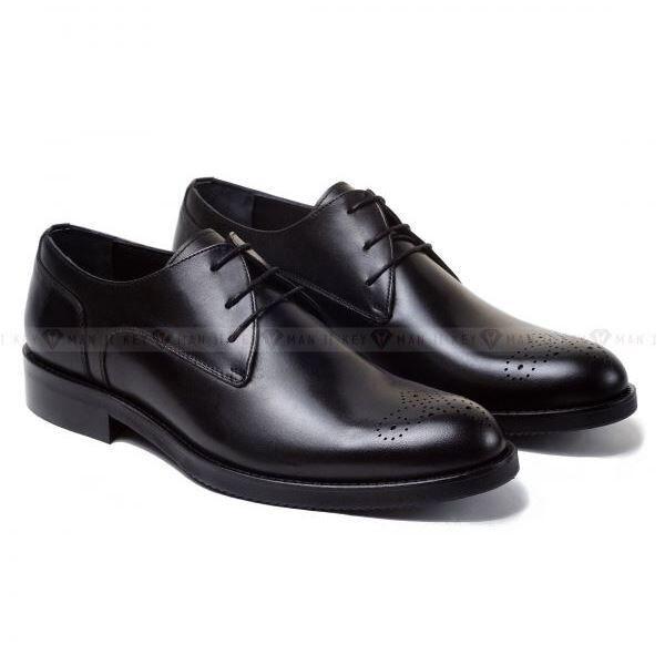 Обувь мужская Keyman Туфли мужские чукка черные с медальоном на мыске обуви - фото 1
