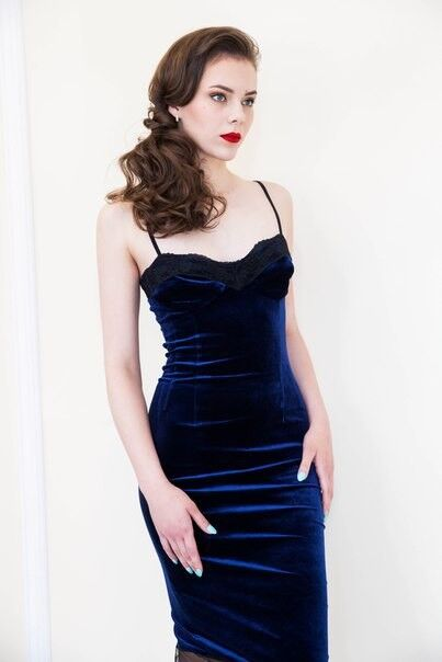 Вечернее платье Shkafpodrugi Бархатное кружевное платье - фото 3