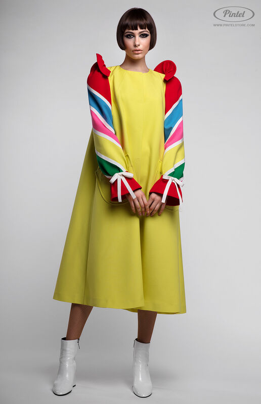 Платье женское Pintel™ Платье-пальто А-силуэта Tinka - фото 3