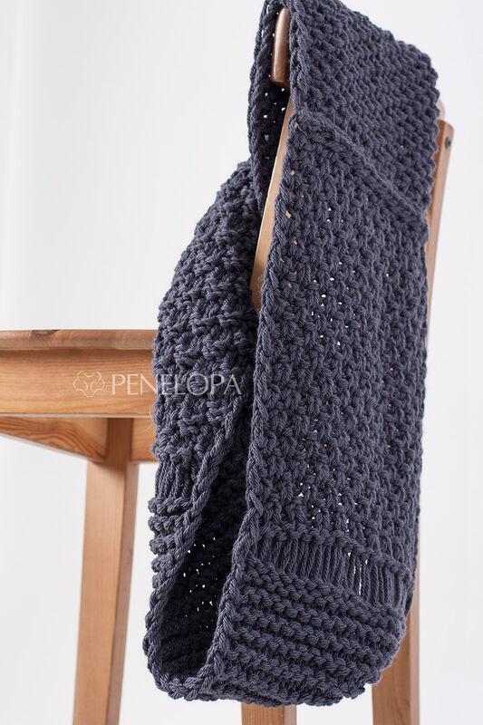 Шарф и платок PENELOPA Шарф-снуд «Cерый грифель» M101 - фото 4