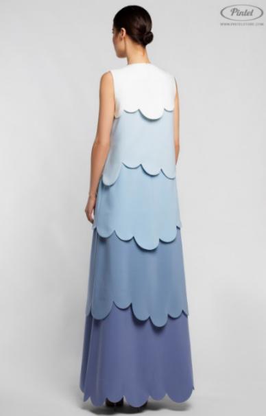 Платье женское Pintel™ Комбинированное платье А-силуэта JUVINIANKA BS - фото 2