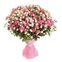 Магазин цветов Ветка сакуры Букет из кустовой розы - фото 1