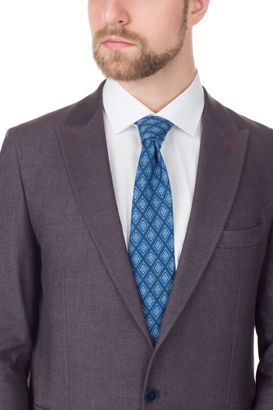 Костюм мужской HISTORIA Костюм коричневый, Slim, накладной карман - фото 2
