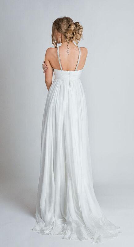 Свадебное платье напрокат Yusupova Couture Свадебное платье в греческом стиле, со змейкой - фото 2