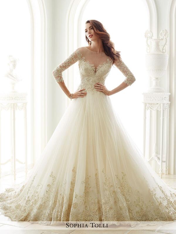 Свадебное платье напрокат Sophia Tolli Платье свадебное Y21666 Andria - фото 1