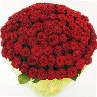Магазин цветов Ветка сакуры Букет из 101 розы - фото 1