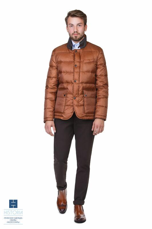 Верхняя одежда мужская HISTORIA Куртка утепленная (пух) ярко-коричневая - фото 1