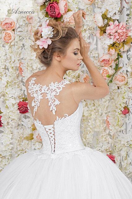 Свадебное платье напрокат Vintage Платье свадебное «Агнесса» - фото 2