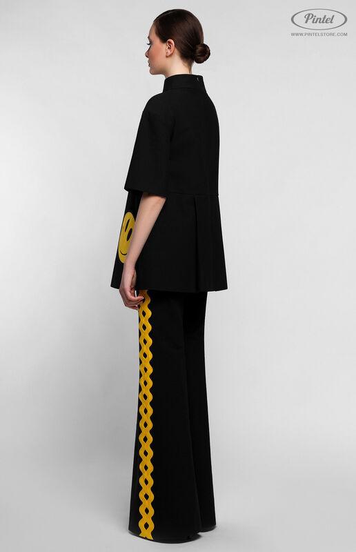 Костюм женский Pintel™ Чёрный костюм из туники и брюк KARISSA - фото 2