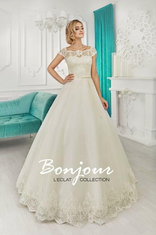 Свадебное платье напрокат Bonjour Платье свадебное «Keit» из коллекции L'ECLAT 2016 - фото 1