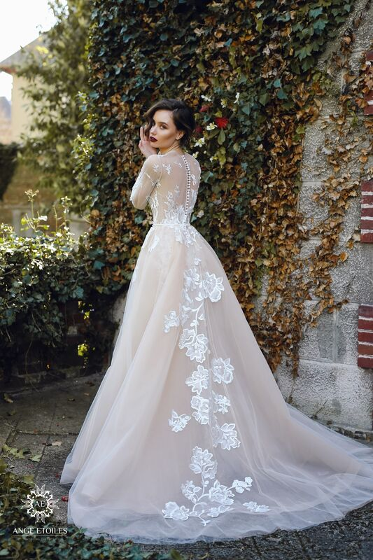 Свадебное платье напрокат Ange Etoiles Платье свадебное AEriality Collection Rosaly - фото 5