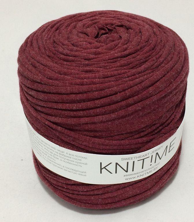 Товар для рукоделия Knit!Me Ленточная пряжа Sweetheart Jersey - Клюква в сахарной пудре (SJ108) - фото 1