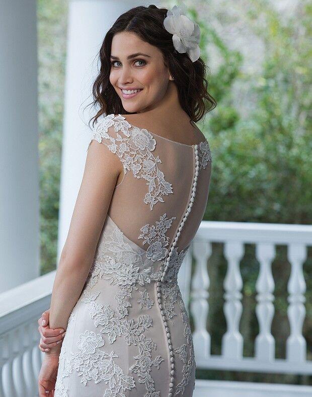 Свадебное платье напрокат Sinserity Свадебное платье 3842 - фото 2