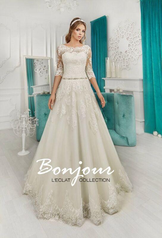 Свадебное платье напрокат Bonjour Платье свадебное «Roksana» из коллекции L'ECLAT 2016 - фото 2