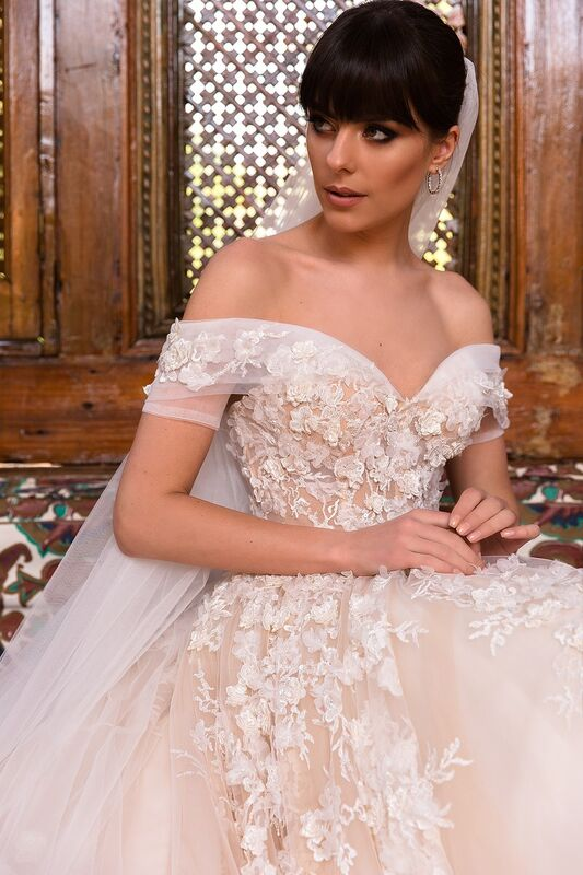 Свадебное платье напрокат Crystal Платье свадебное Magenta - фото 5