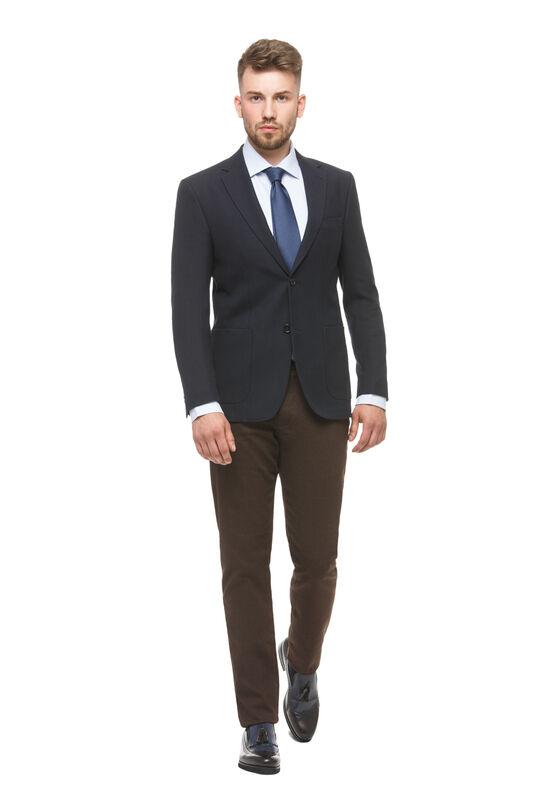 Пиджак, жакет, жилетка мужские HISTORIA Пиджак темно-синий с накладными карманами - фото 1