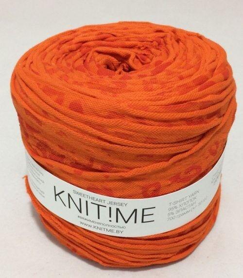 Товар для рукоделия Knit!Me Ленточная пряжа Sweetheart Jersey - Жираф (SJ130) - фото 1