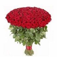 Магазин цветов Ветка сакуры Букет из роз № 30 (101 метровая роза) - фото 1