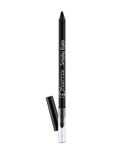 Декоративная косметика Flormar Карандаш для век Smoky Eyes Carbon Black Waterproof Eyeliner - фото 1