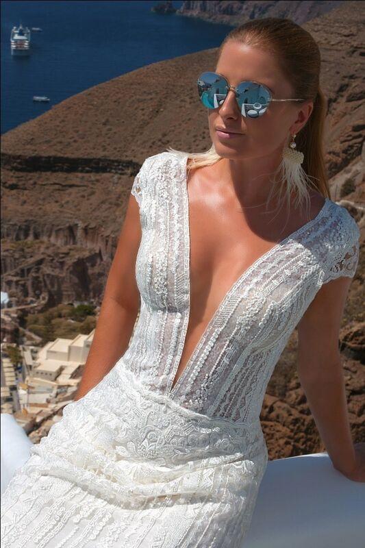 Свадебное платье напрокат Rafineza Свадебное платье Sindi Santorini напрокат - фото 2