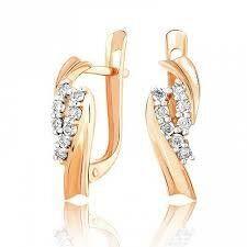 Ювелирный салон Jeweller Karat Серьги золотые с бриллиантами арт. 3225551/9 - фото 1