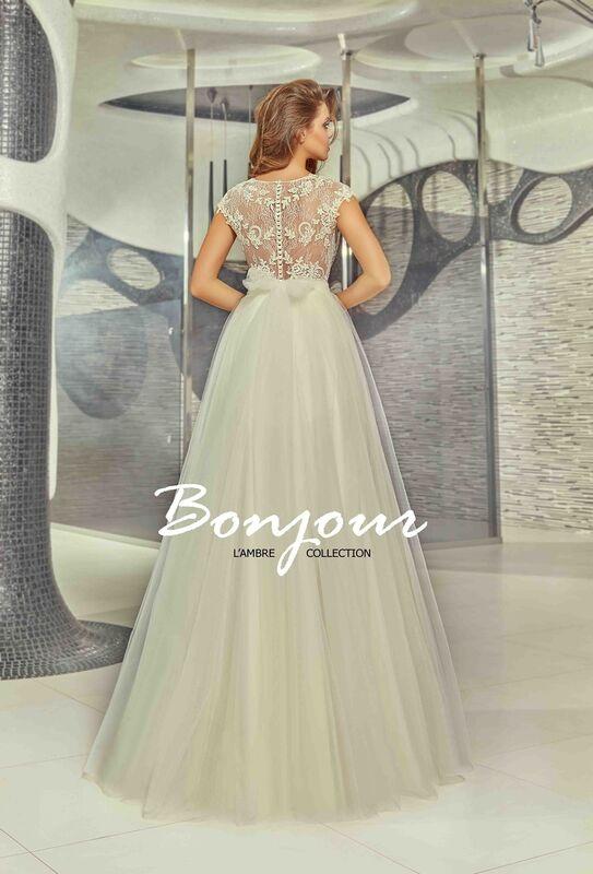 Свадебное платье напрокат Bonjour Платье свадебное «Mei» из коллекции LAMBRE 2017 - фото 2