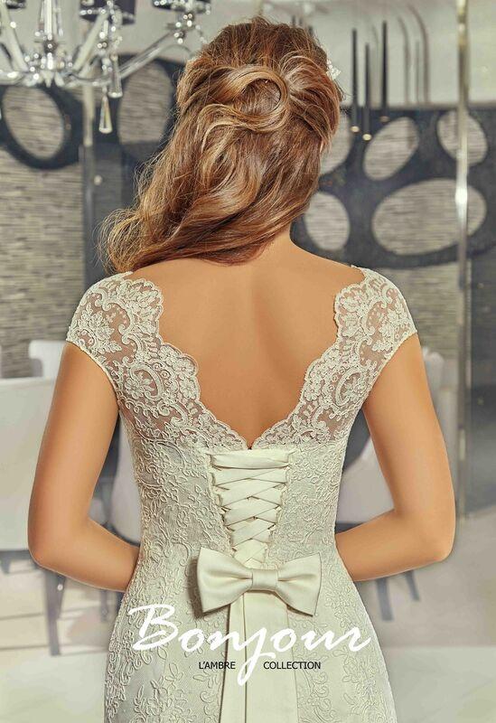 Свадебное платье напрокат Bonjour Платье свадебное «Jessi» из коллекции LAMBRE 2017 - фото 4