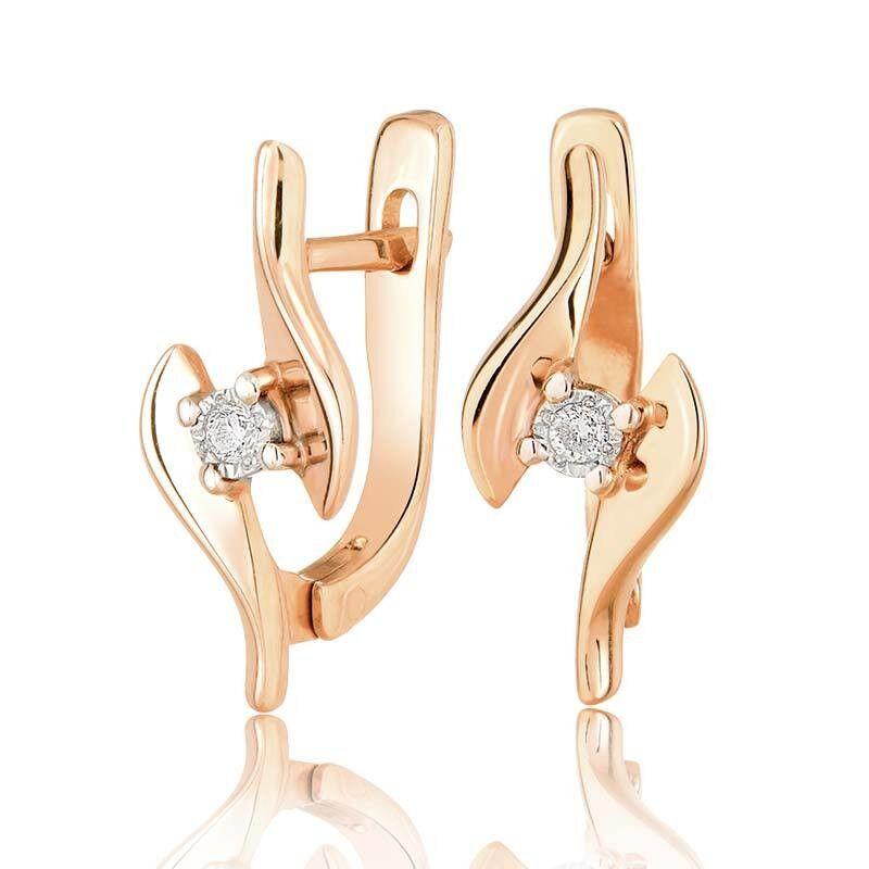 Ювелирный салон Jeweller Karat Серьги золотые с бриллиантами арт. 3223189/9 - фото 1