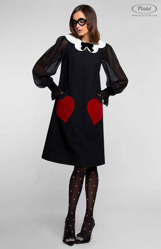 Платье женское Pintel™ Платье А-силуэта из натуральной шерсти TIFFANY - фото 2