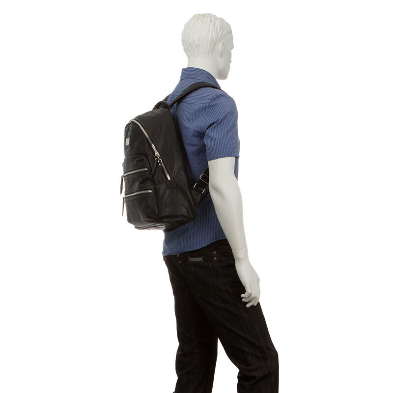 Магазин сумок Francesco Molinary Рюкзак мужской черный 513-10816-1-024 - фото 3