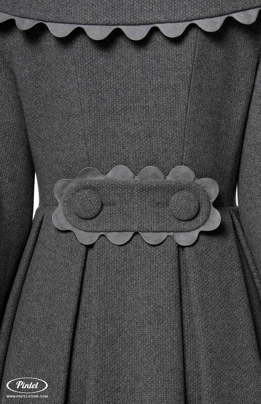 Верхняя одежда женская Pintel™ Приталенное двубортное пальто  Younis - фото 4