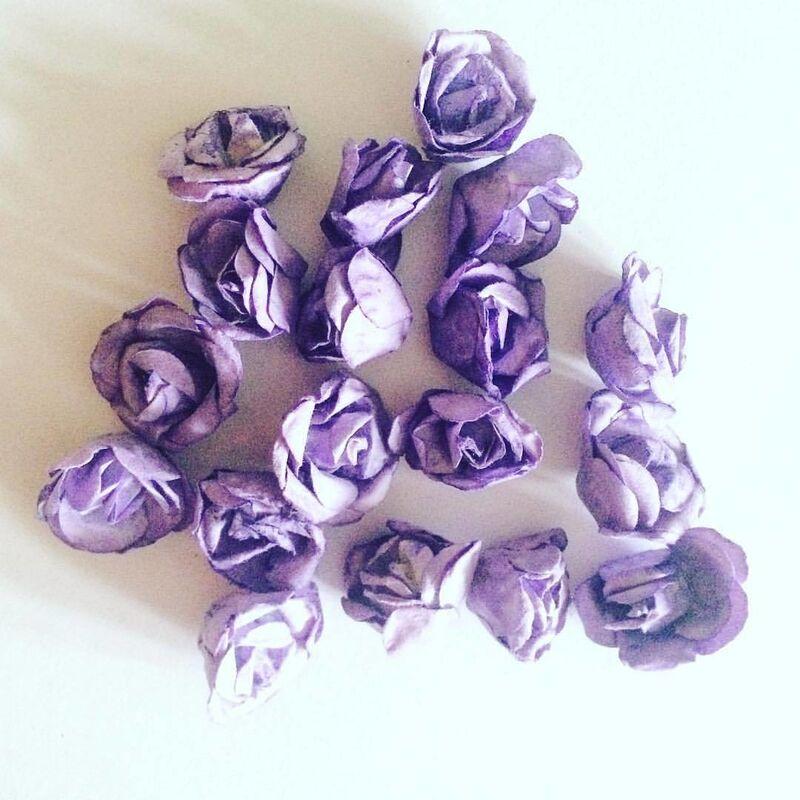 Товар для рукоделия Sofi Collection Бумажные розы, 1.5 см - фото 1
