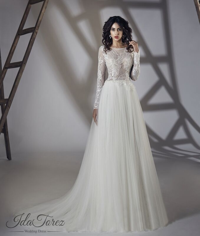 Свадебное платье напрокат Ida Torez Свадебное платье Estena - фото 1