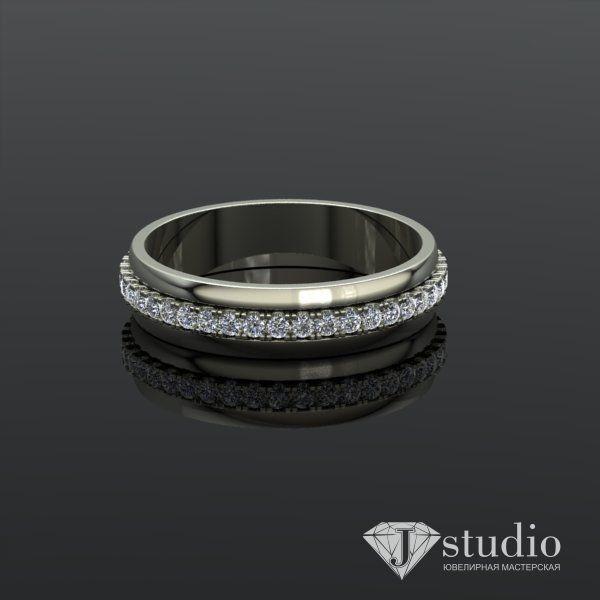 Ювелирный салон jstudio Золотое кольцо с вращающимся центром Ю-061К - фото 4