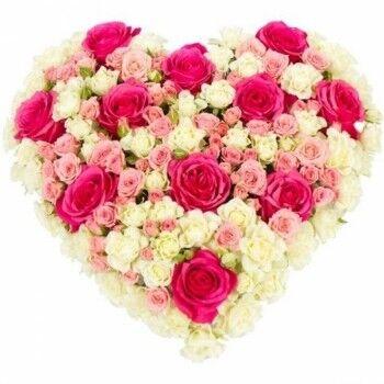 Магазин цветов Ветка сакуры Композиция «Сердце» 5 - фото 1
