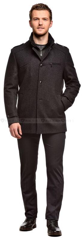 Верхняя одежда мужская Keyman Пальто мужское серое шерстяное утепленное синтепоном - фото 1
