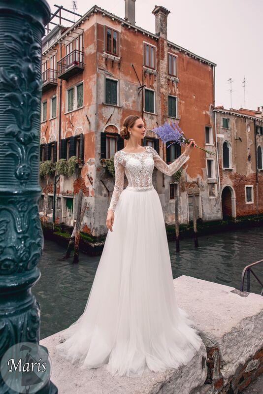 Свадебное платье напрокат Bonjour Платье свадебное «Maris» из коллекции LE DELICE 2018 - фото 1