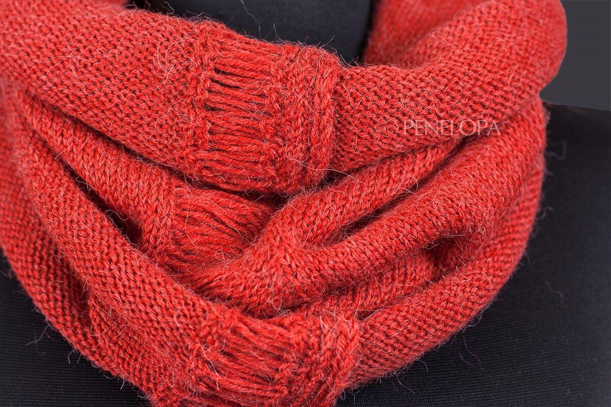 Шарф и платок PENELOPA Нежный снуд с коралловым оттенком M9 - фото 2