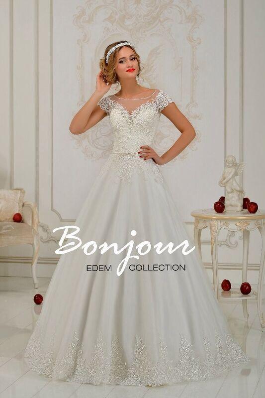 Свадебное платье напрокат Bonjour Платье свадебное «Kristen 2» из коллекции EDEM 2016 - фото 1