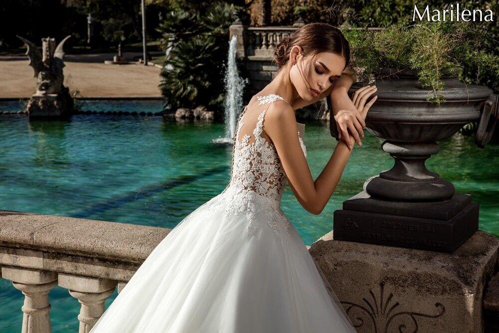 Свадебное платье напрокат Bonjour Платье свадебное «Marilena» из коллекции LA POESIE 2017 - фото 4