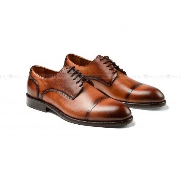 Обувь мужская Keyman Туфли мужские рыжие с декоративной окраской - фото 1