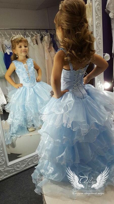 """Платье детское ALIZA Платье """"Голубое"""" - фото 2"""