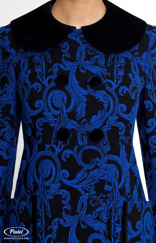Верхняя одежда женская Pintel™ Двубортное жаккардовое мини-пальто Vania - фото 4