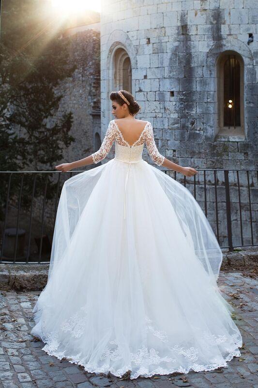 Свадебное платье напрокат Bonjour Платье свадебное «Adelfa» из коллекции LA SENSUALITE 2017 - фото 4