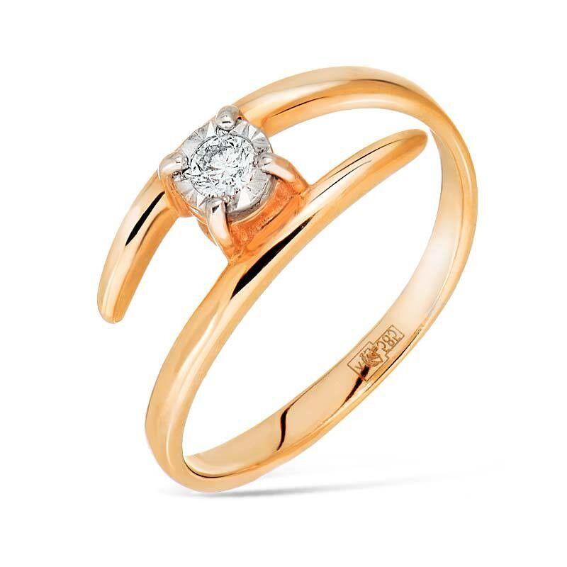 Ювелирный салон Jeweller Karat Кольцо золотое с бриллиантами арт. 3212482/9 - фото 1