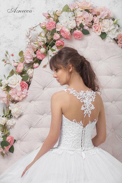 Свадебное платье напрокат Vintage Платье свадебное «Агнесса» - фото 3