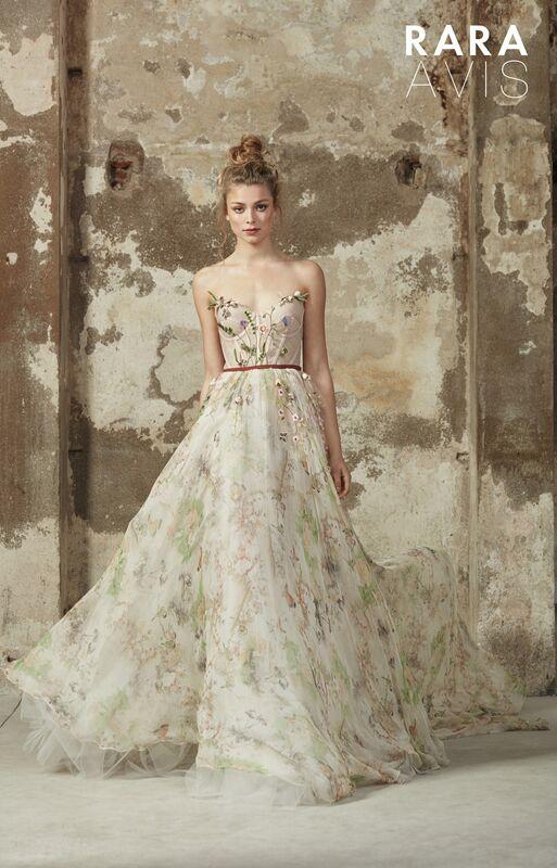 Свадебное платье напрокат Rara Avis Платье свадебное Floral Paradise  Lily - фото 1